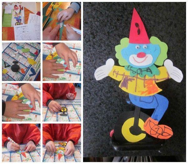 Le clown en mono cycle de rubens activit sur le cirque - Activite manuelle sur le recyclage ...