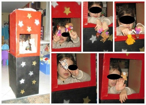 fabriquer théâtre marionnettes